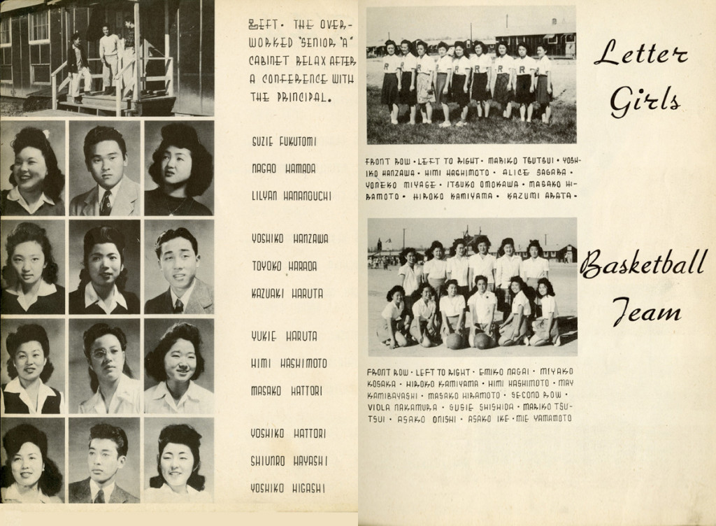 Images from the 1944 Resume yearbook from Rohwer Center High School