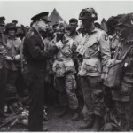 Eisenhower talking with Paratroopers from the 101st before the invasion. Image courtesy of The National Archives and Records Administration.