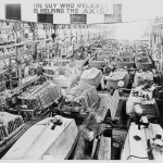 Higgins Industries production of LCVPs in preparation for D-Day and other amphibious landings. Image courtesy of The National Archives and Records Administration.