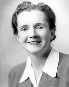 Rachel Carson. Image courtesy of the National Women's History Museum