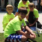 Campers learn about simple rockets using alka seltzer launchers.
