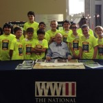 Third session campers with WWII Veteran Tom Blakey.