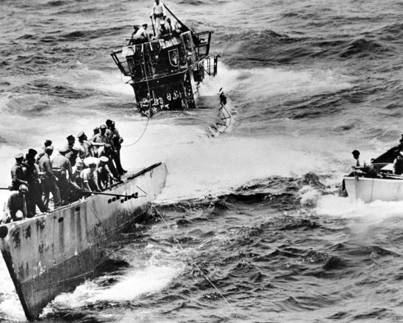The capture of U-505. Image courtesy of the Historic Naval Ships Association.