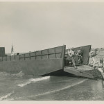 Ceremony for the 10,000th Higgins boat on Lake Pontchartrain in New Orleans, 23 July 1944. Gift of Louis Gilmore, 2008.379.023