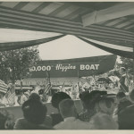 Ceremony for the 10,000th Higgins boat on Lake Pontchartrain in New Orleans, 23 July 1944. Gift of Louis Gilmore, 2008.379.038