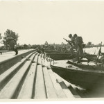 Ceremony for the 10,000th Higgins boat on Lake Pontchartrain in New Orleans, 23 July 1944. Gift in memory of Andres N. Horcasitas, 2009.428.011