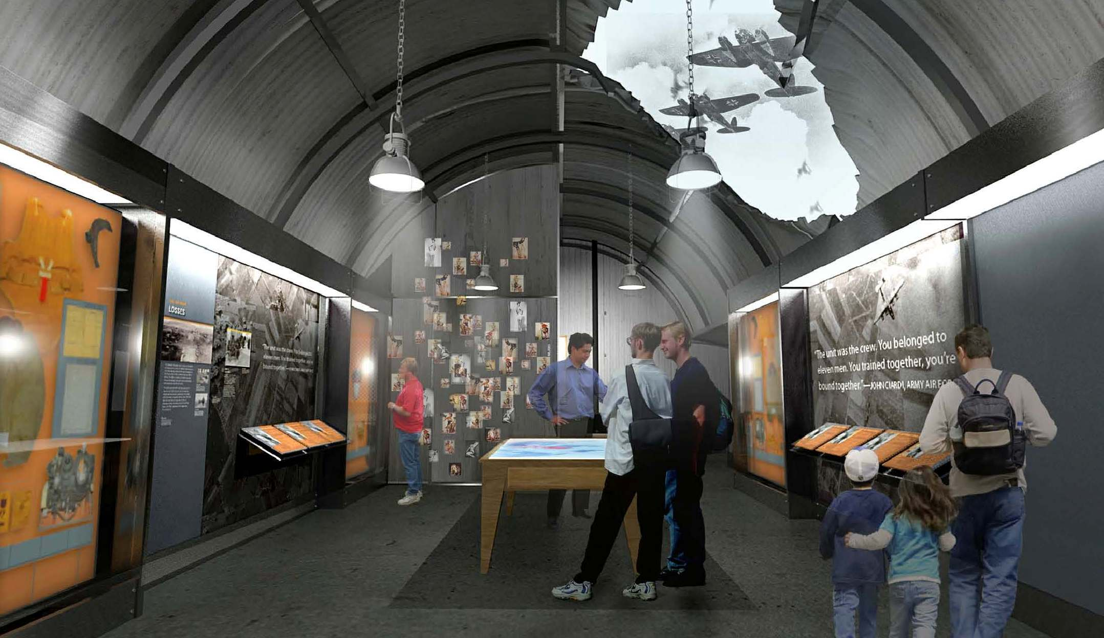Rendering of the Air War gallery