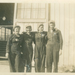 The women welders of Delta Shipbuilding Company. Mildred Aupied is on the far right. The National WWII Museum 2014.