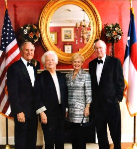 George and Annette Strake with President George Bush & his wife Barbara.