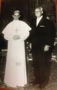 George W. Strake, Sr. and Pope Paul VI