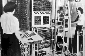 The original Colossus at Bletchley Park.