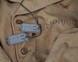 Field jacket and dog tags from the Museum's collection