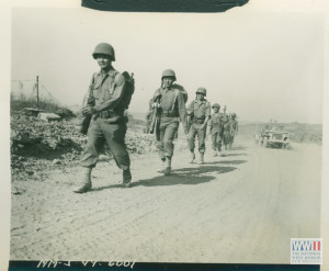 JAPANESE AMERICAN TROOPS MOVING FROM VELLETRI, ITALY ON 29 MAY 1944