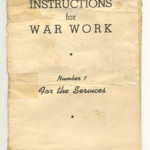 Knitting Instructions for War Work * Number 1 For the Services. Issued by the Canadian Red Cross Society, November 1940. From the Education Collection at The National WWII Museum.