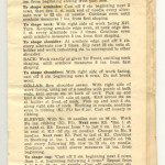 1940 Knitting instructions for a sweater and a scarf