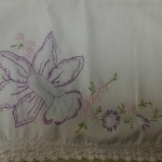 Embroidered pillowcase. From the Collection of The National WWII Museum.