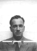 It may look like a mug shot, but it's Otto Frisch's ID badge for the Manhattan Project.