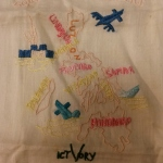 "Embroidered ""Souvenir of My Service"" Map of Philippines. From the Collection of The National WWII Museum."