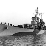 USS Houston (CL 81) Off the Norfolk Navy Yard, Virginia, 11 January 1944.