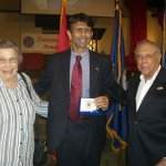J.I. receiving the Louisiana Veterans of Medal of Honor from Governor Jindal alongside his wife Verna on April 16, 2010.