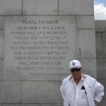J.I. at the World War II Memorial  with the Louisiana Honor Air in May 2011.