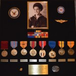 The medals J.I. was awarded for his service in the US Navy.