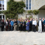The tour group at Brecourt.