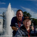 STAR teacher John Nitcy (Idaho) with Honor Flight veteran Lowell Reistad.