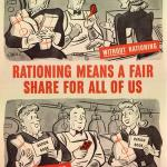 Government propaganda poster promoting rationing, 1943. Courtesy of the National Archives and Records Administration.