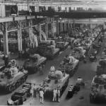 Chrysler's Detroit Arsenal Tank Plant tank, Detroit, MI, 1940s. Image courtesy of the National Automotive History Collection, Detroit Public Library.