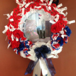 Wreath made for 103 local Idaho soldiers who served and died in WWI up through the recent war in Afghanistan.