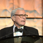 Tom Brokaw as Master of Ceremonies during the Museum's gala.