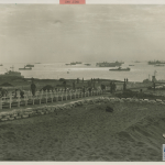 Uncompleted cemetery on Iwo Jima for the 3rd and 4th Divisions of Marines. U.S. Navy, Gift of Charles Ives, from the collection of The National WWII Museum. 011.102.539.