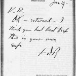 Roosevelt often, as in this case, indicated his approval of an idea with an 'OK' on the back of the letter on which it came.