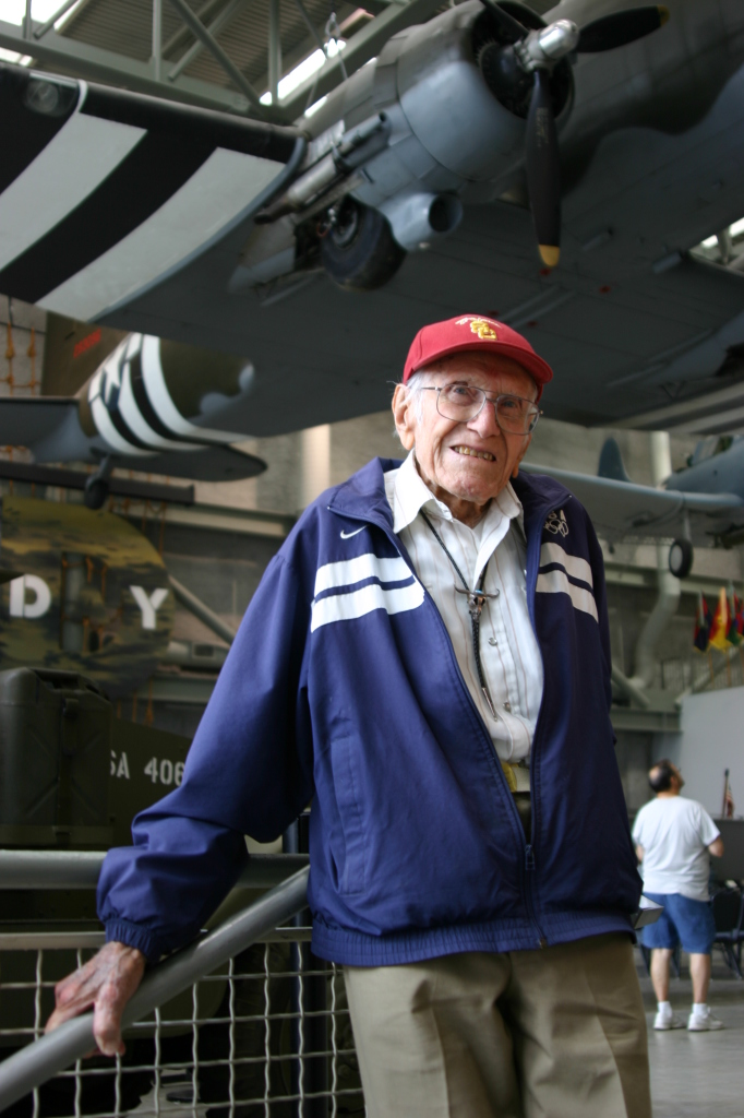 Louis Zamperini at The National WWII Museum in 2011