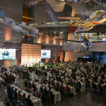 View of attendees in the Museum's US Freedom Pavilion: The Boeing Center during the gala.