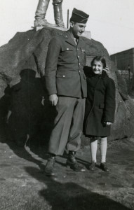 Alfred and Ann Lehman in Providence, Rhode Island, Thanksgiving 1944. Gift in Memory of Alfred Lehman, 2013.342