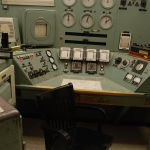 No, that's not where Homer sits, unless he worked at the Hanford site's B reactor