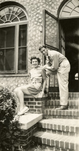Ruth Harman with her son Private Marvin Harman in Brooklyn, New York in Summer 1944. Gift in Memory of Marvin Harman, 2013.342.
