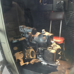 From The US Freedom Pavilion:The Boeing Center, a Norden bombsight in the nose of the Overexposed fuselage.