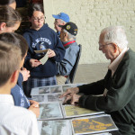 Blakey volunteered at the Museum multiple times throughout the week sharing his WWII story with our visitors.