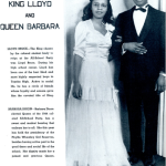 Image of Black prom king and queen in 1944 Topeka High School yearbook.  ww2yearbooks.org.