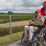 "In June 2014, Blakey traveled back to Normandy for the 70th Anniversary of D-Day commemorations. Here he is revisiting the area around La Fiere where he took part in one of the ""costliest small-unit action in the history of the US Army."""