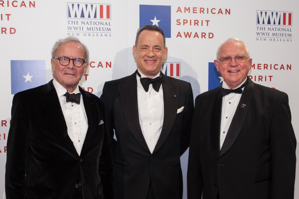 Tom Brokaw, Tom Hanks, and