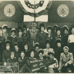 Champion welders, Delta Shipbuilding plant, 1943. Gift of Mildred Aupied, from the Collection of The National WWII Museum.