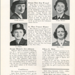 St. Ursuline Academy in Toledo, Ohio, was an all-girls Catholic school. This page from their 1945 yearbook highlights graduates' wartime service. See the whole yearbook at ww2yearbooks.org.
