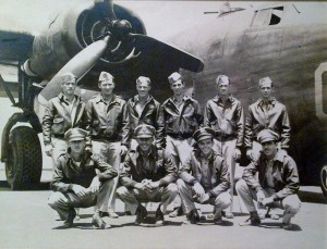 First Lt. Clarence Riviere with Crew