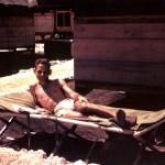 Robert Serber on Tinian, awaiting the bombs' deployment.