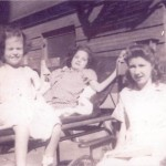Three girls in Charity Hospital New Orleans' ward for Polio cases.