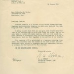 Letter to widow Catherine Greise. Gift of Dr. David Heins, 2010.164